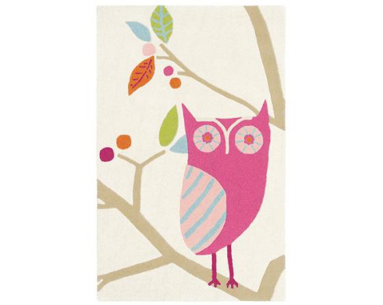 Tapis WHAT A HOOT CA Rose
