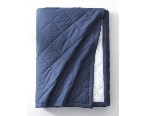 Couvre lit VICE&VERSA Bleu nuit/meringue