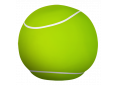 Pouf  Large 80cm Lime/white