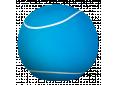 Pouf Large 80cm Turquoise/white