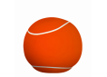 Pouf Large 80cm Orange/white