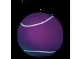 Pouf Large 80cm Purple/white