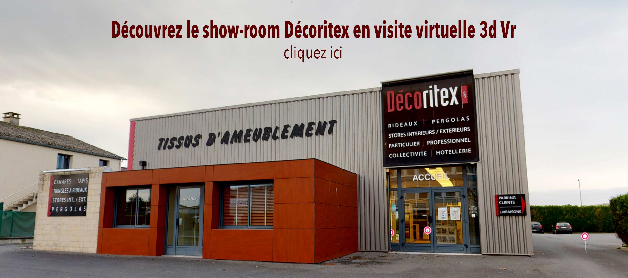 Visite virtuelle 3d vr du show-room Décoritex